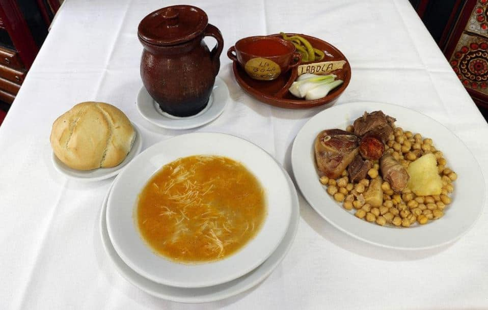 Typical castillian dish in one of Madrid's oldest restaurants