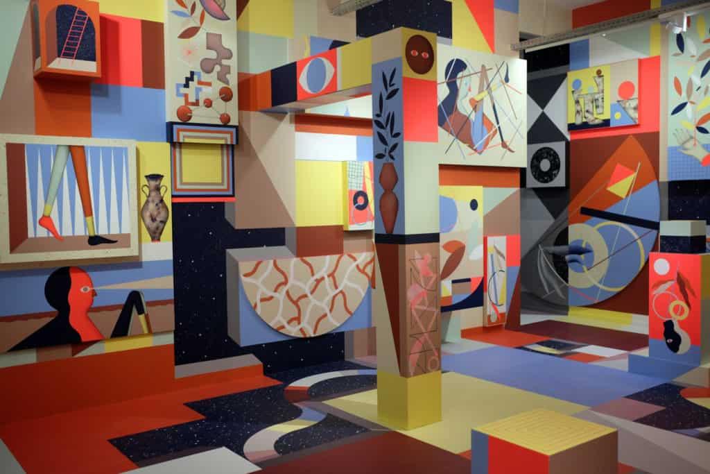 Arts museum focusing on colourful art