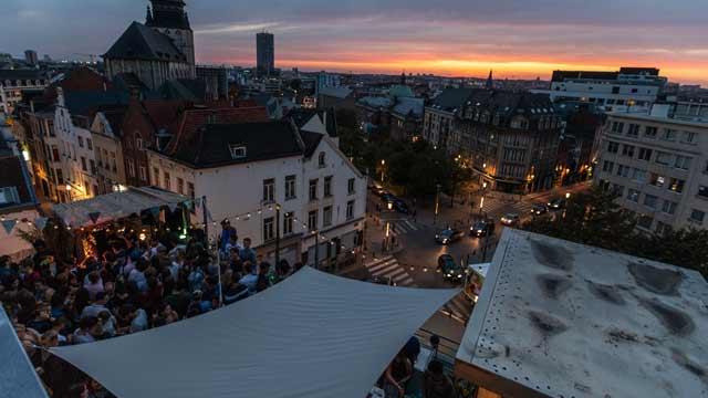 Snapshot of a rooftop bar