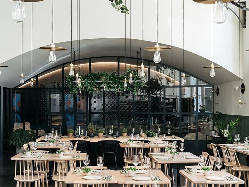 Snapshot of culinary restaurant in Lisbon