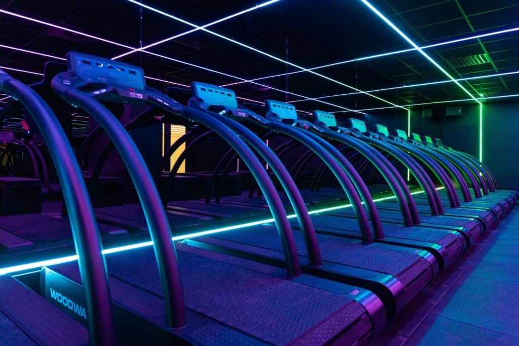 Fitness runner with special lights