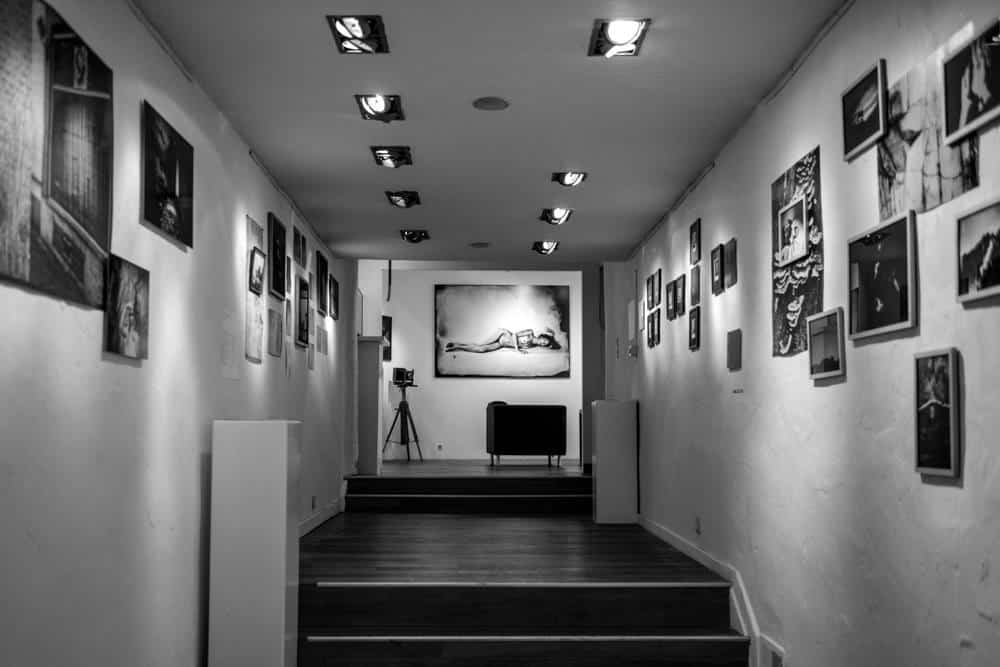 Snapshot of a hall in a photography museum