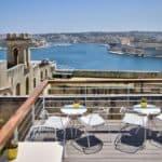 Panoramic roof terrace in Valletta