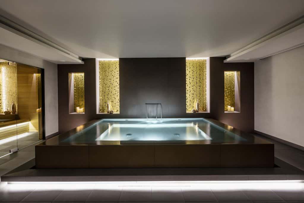 Luxurious wellness swimming pool