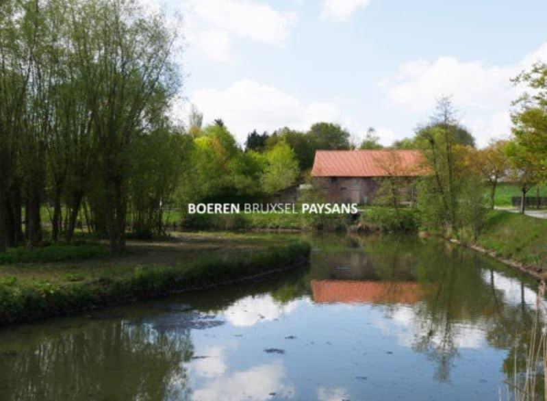 Urban farm with pond