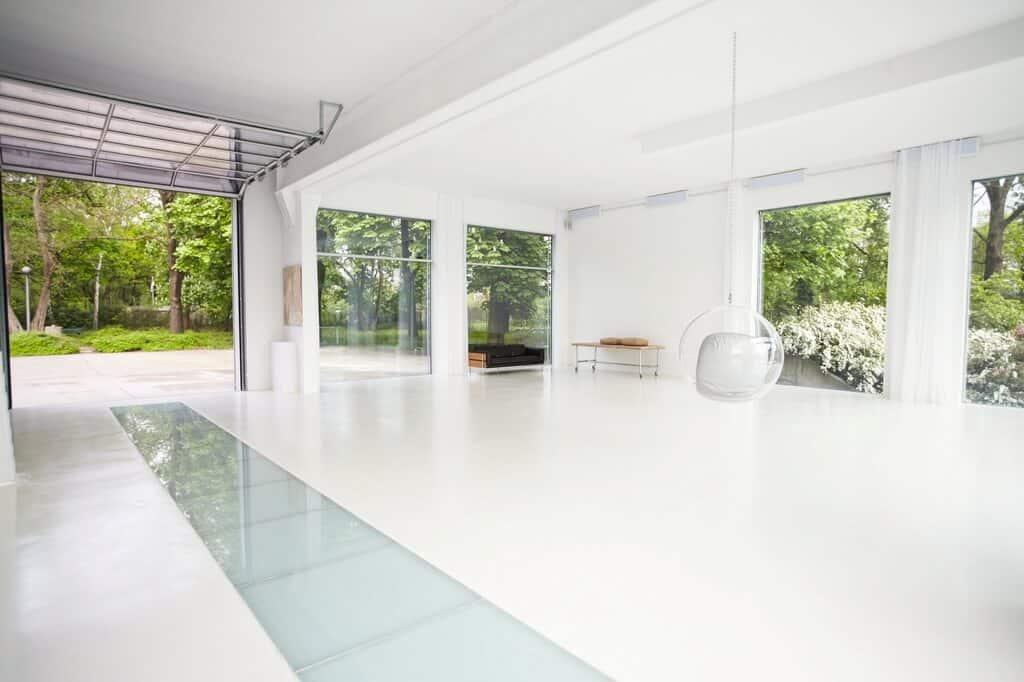 white minimal space