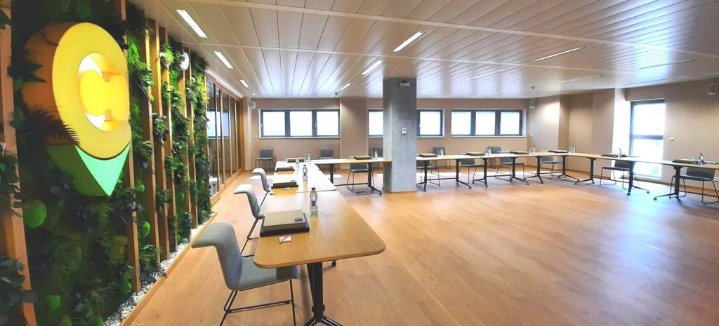 modern and bright seminar room