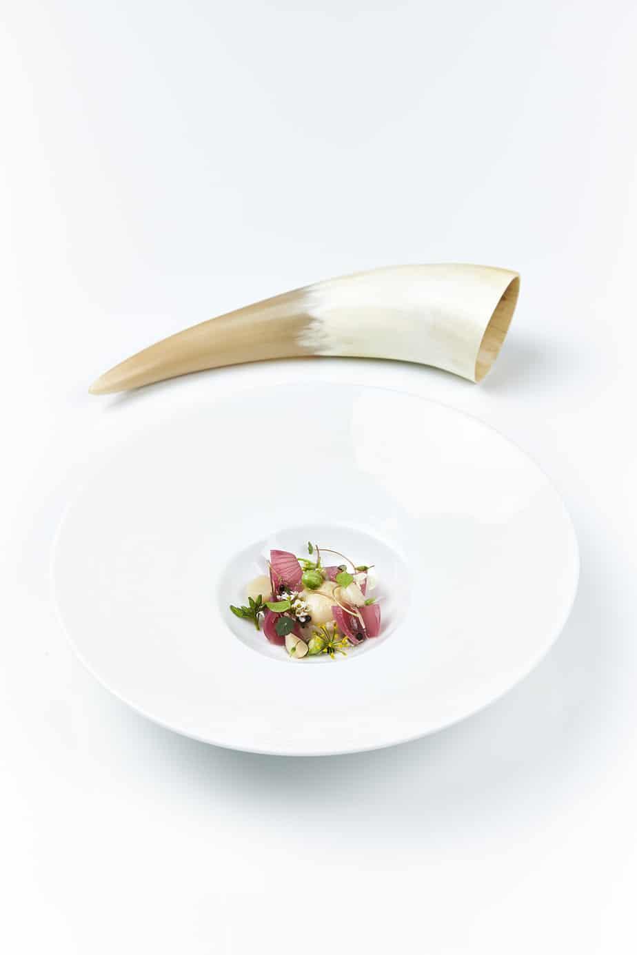 minimal restaurant dish white