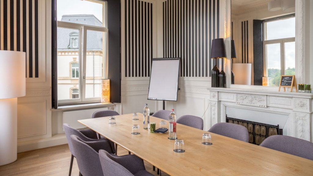 seminar room with natural light