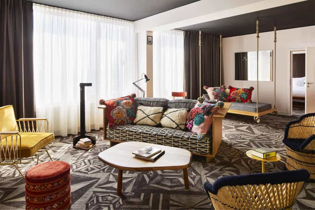 Hotel room with quirky and eclectic design