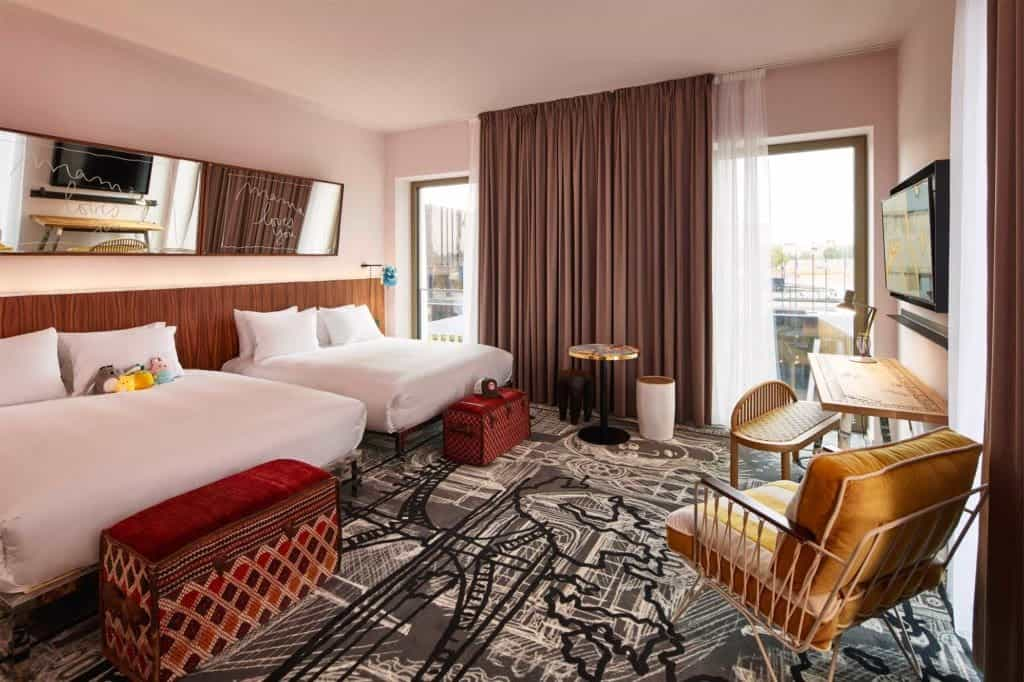 eclectic hotel room