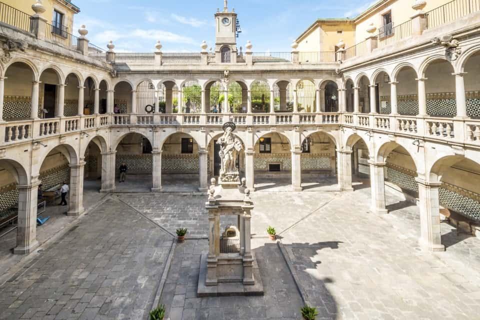 Beautiful historical courtyard in Barcelona