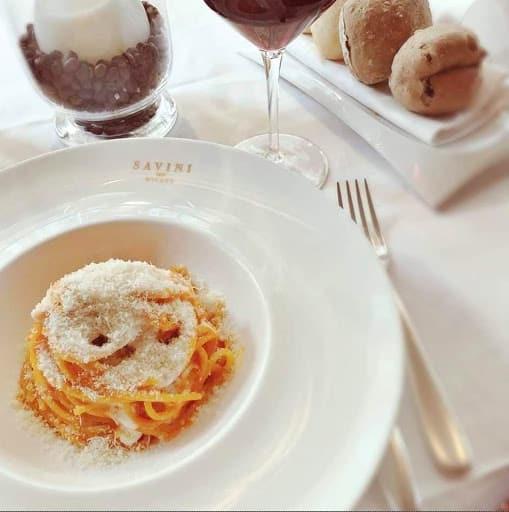 tagliolini with tomato sauce