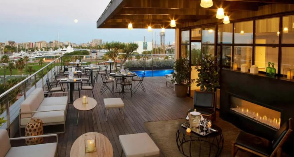 Rooftop terrace with pool in Barcelona