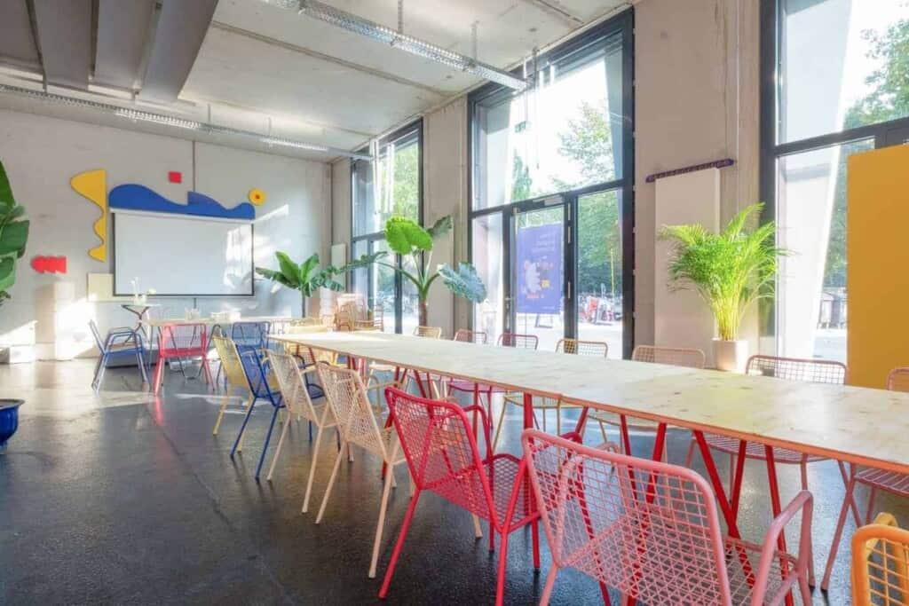 colorful workspace in Berlin