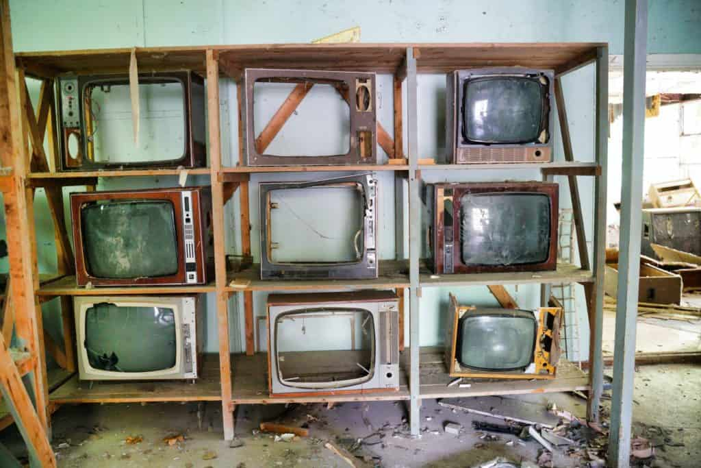 broken TVs