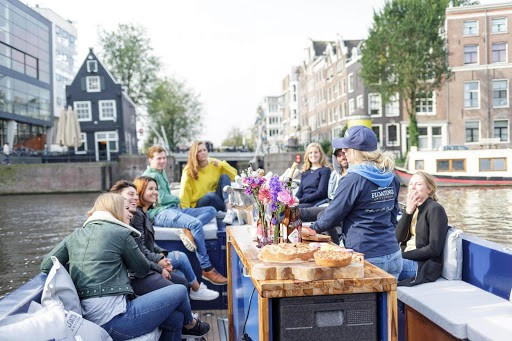 team outing with Floating Amsterdam
