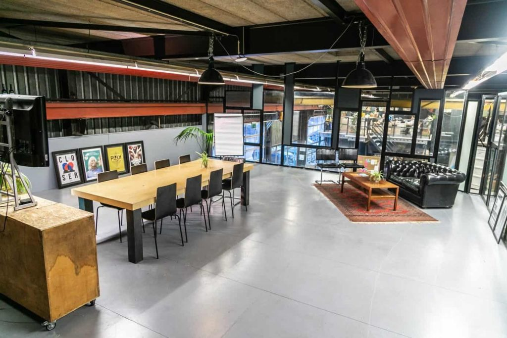 Industrial Glass Meeting Room