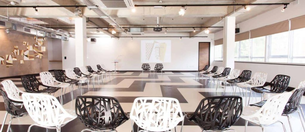 Retro Venue with Checkerboard Floor