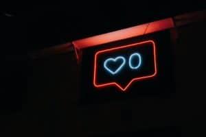social icons neon