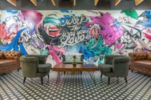 colorful coworking space
