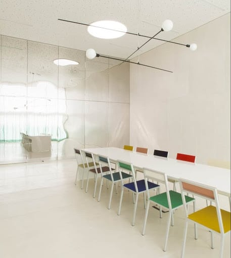 Bright White Discussion Space in Brussels