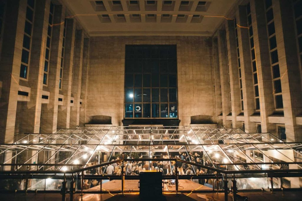 Classical Party Venue with a Modernist Glass Ceiling