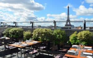 Elegant Terrace Overlooking the Skyline of Paris