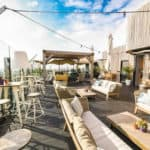 Modern Rooftop Terrace with a Lounge Style Decor