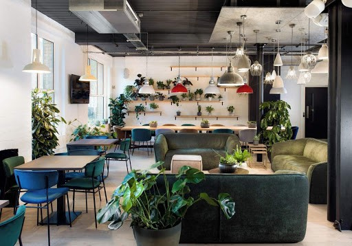Sleek Green Discussion Space in London