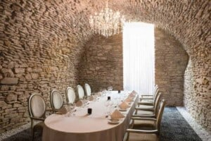 Unique and Ancient Meeting Room with Stone Walls