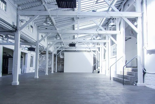 White Event Space in Industrial Style