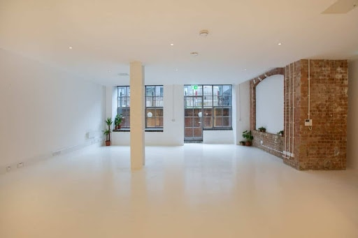 White Studio with Industrial Features