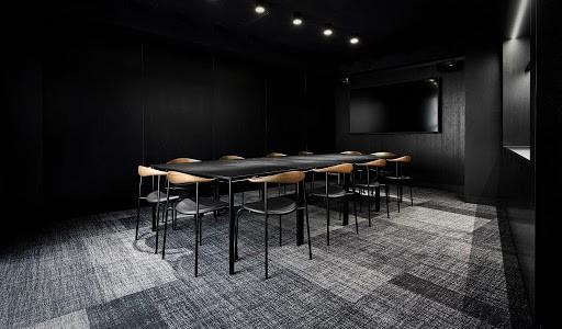 Black Minimalistic Training Room in Copenhagen
