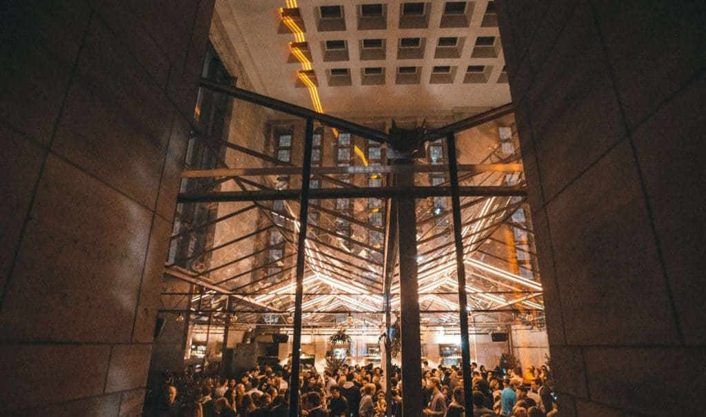Classical Summer Party Venue in Brussels with Modernist Glass Ceiling