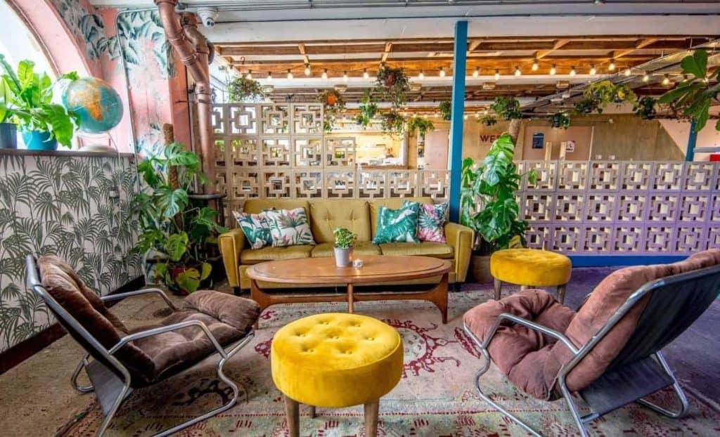 Jungle Themed Rooftop Terrace in London