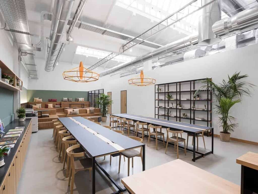 Modern Hackathon Space in Milan with an Industrial Touch