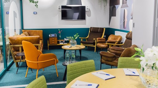 Vintage and Colourful Seminar Room in Stockholm