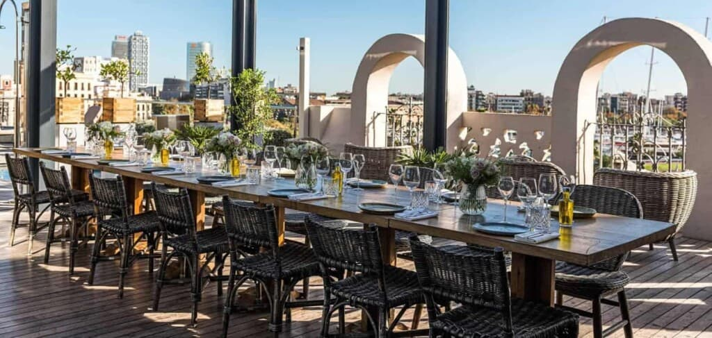 Idyllic Rooftop Group Dining Space in Barcelona