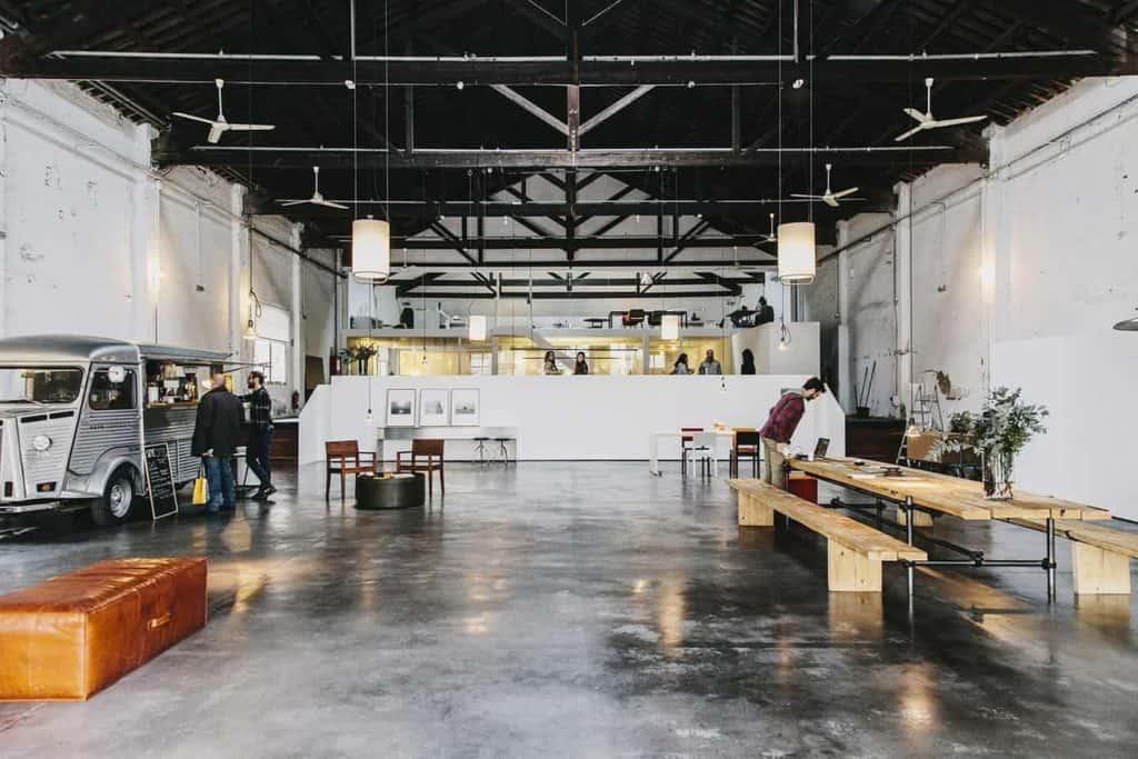 White Industrial Blank Canvas Venue in Barcelona