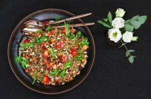 Lentils salad with pomegranate from Artfood
