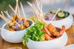 Shrimp brochette with cilantro from biorganic