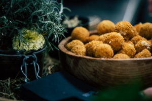 Crispy Cheese balls from Choux de Bruxelles