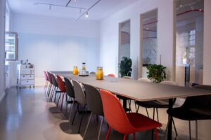 Colorful and modern meeting space