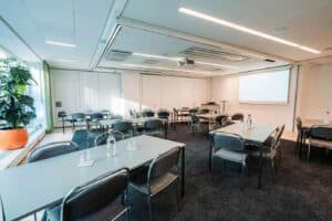 Sleek and spacious meeting room for business encounters