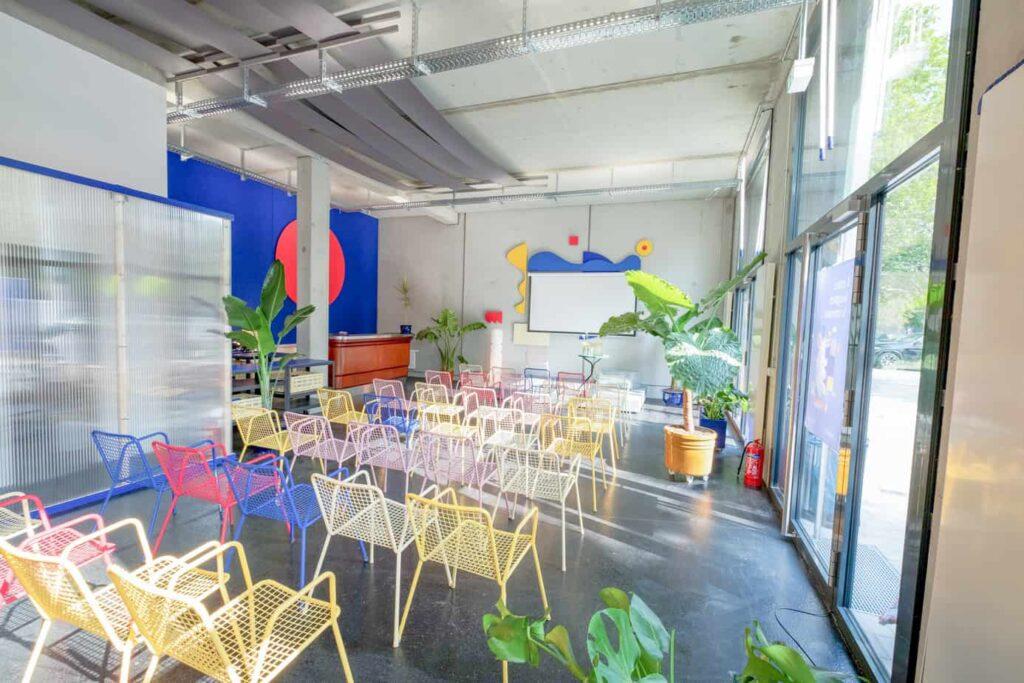 Playground Playful rainbow event room in Berlin