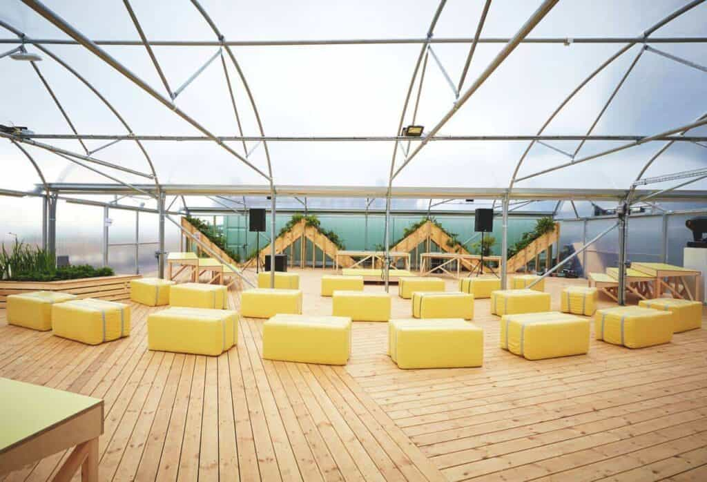 Airy and verdant venue for special gatherings