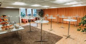 Calm and serene event space for afterworks and celebrations in Stockholm.