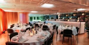 Rich and vibrant lounge space with flexible layout in Stockholm. Venue for exhibitions, receptions or private dining.