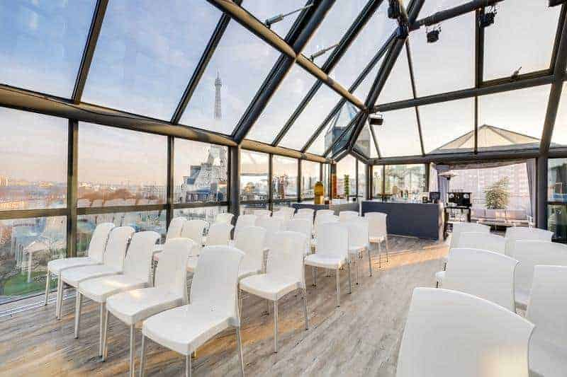 Splendid rooftop venue with beautiful views in Paris. Space for product launches and press conferences.